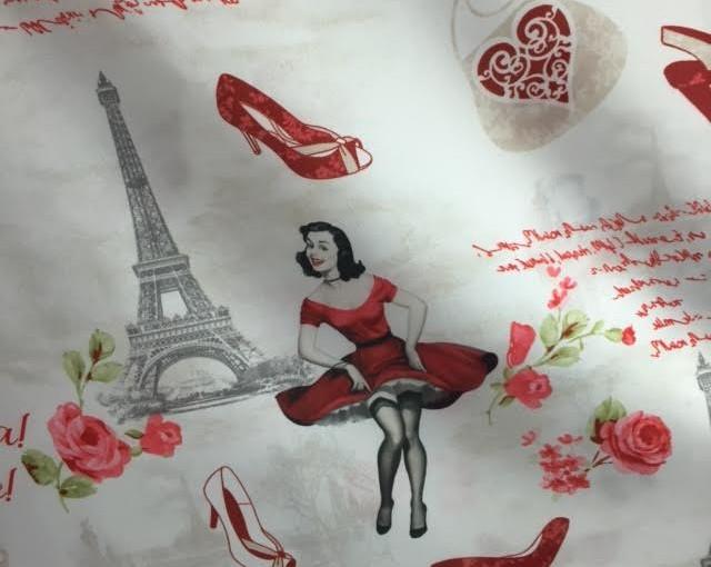 Tkanina bawełniana Młodzieżowa London i Paris